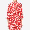 Pyjama Blouse  ROYAL RED FLORAL  hi-res