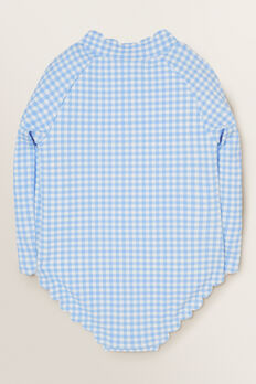 Scallop Gingham Rashsuit  BLUEBELL  hi-res