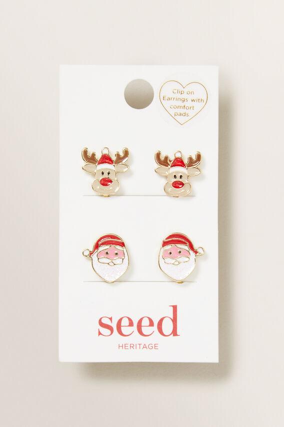 Christmas Clip On Earrings  MULTI  hi-res