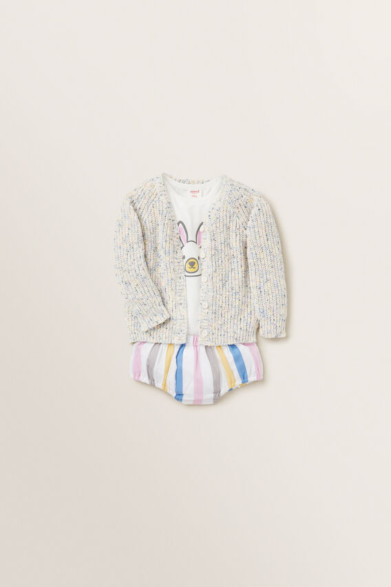 Rainbow Raglan Cardigan  MULTI  hi-res