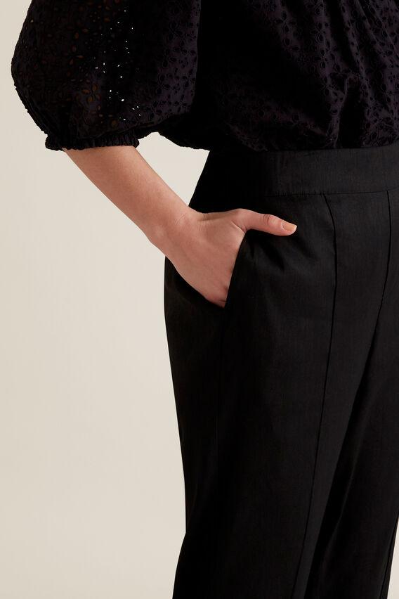 Stitch Front Pant  BLACK  hi-res