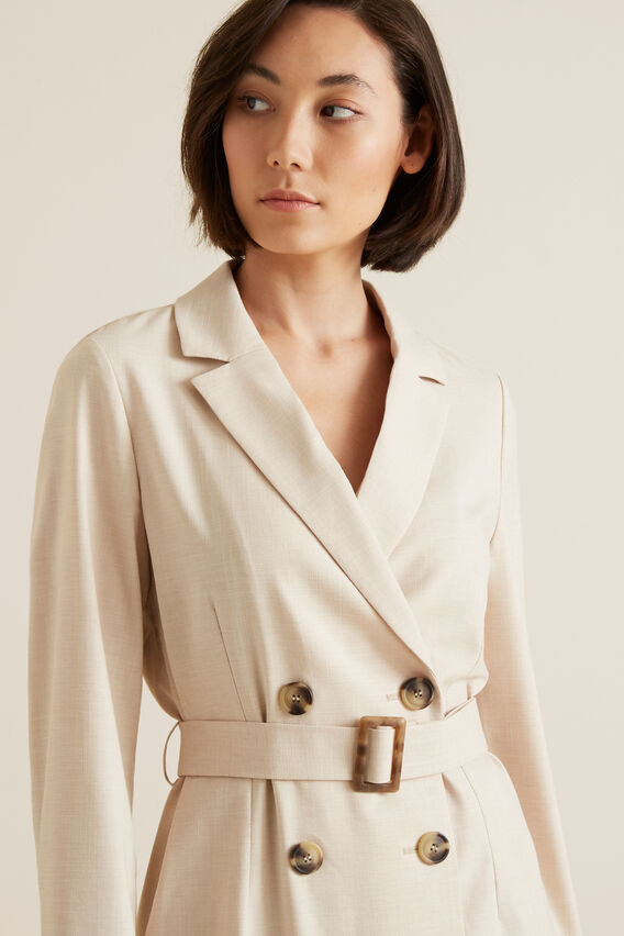 Soft Belted Jacket  TEXTURED DESERT  hi-res
