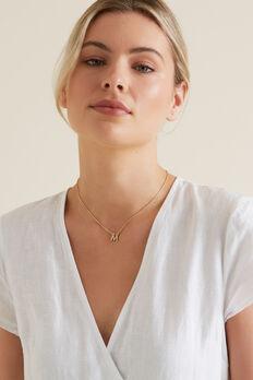 Diamante Initial Necklace  M  hi-res