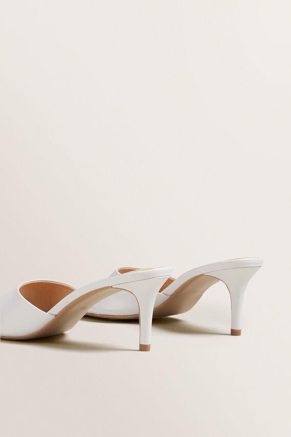Morgan Mule Sandal  WHITE  hi-res