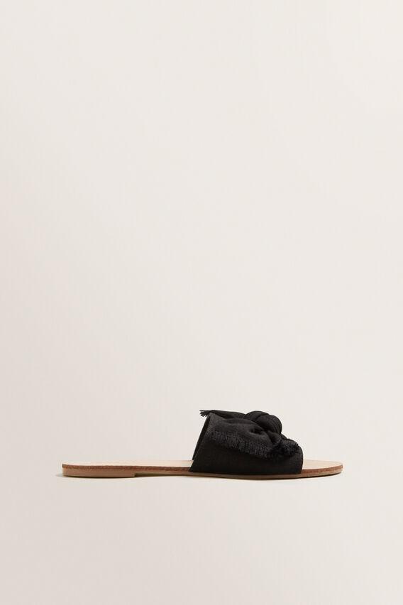 Belle Bow Slide  BLACK  hi-res