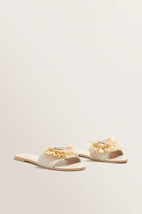 Lila Fringe Slide  NATURAL  hi-res