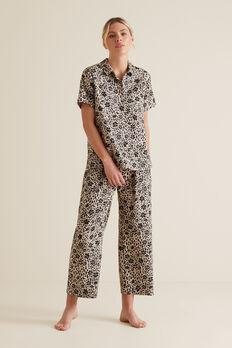 Sleep Short Sleeve Pant Set  FLORAL ANIMAL  hi-res