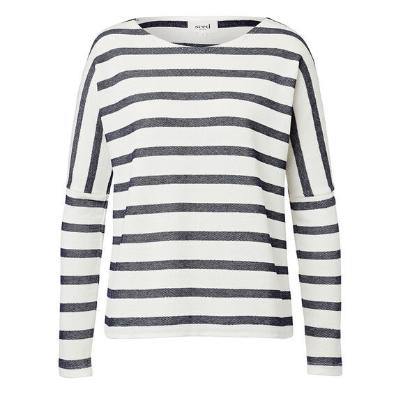 Stripe Sweater  WHITE/INK BLUE  hi-res