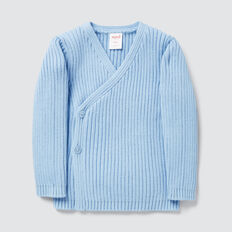 Rib Knit Wrap Cardigan  DUSK BLUE  hi-res