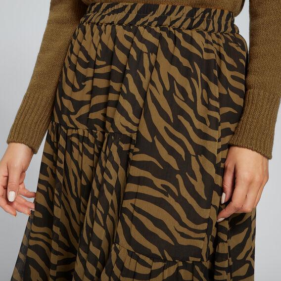 Zebra Print Skirt  ZEBRA PRINT  hi-res