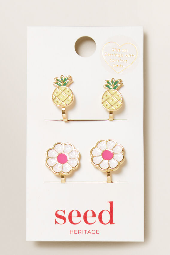Fruit Clip On Earrings  MULTI  hi-res