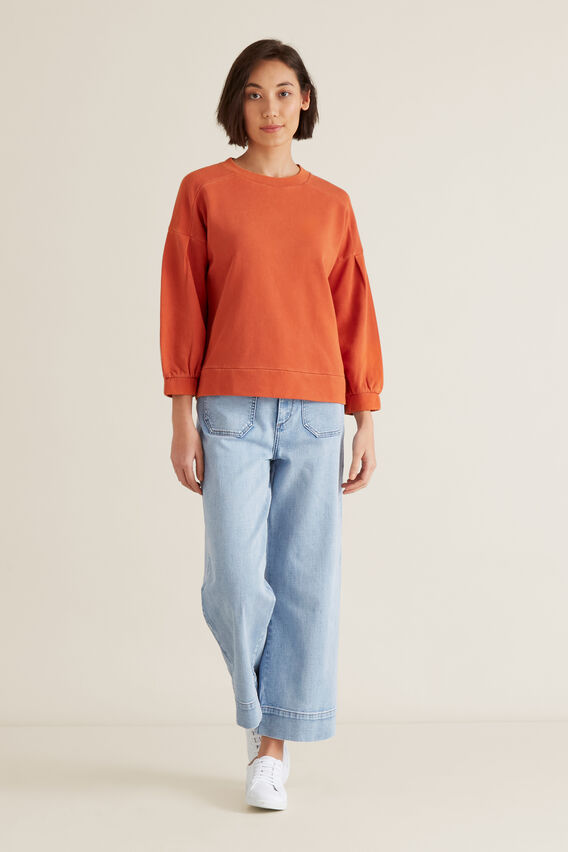 Blouson Sleeve Sweater  SUNBURNT ORANGE  hi-res