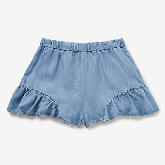 Tencel Frill Shorts  SEA BLUE WASH  hi-res