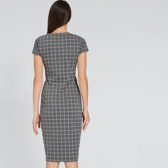 Check Jersey Dress  CHECK  hi-res