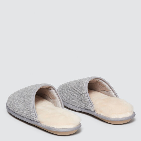 Shearling Slippers  GREY  hi-res
