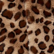 Ocelot Faux Fur Scarf  GINGERBREAD/BLACK  hi-res