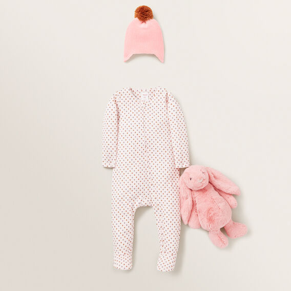 Floral Zip Suit - (Available in 00000)  BUBBLEGUM  hi-res