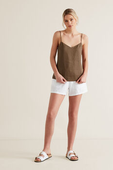 Linen Cami  LIGHT CHOCOLATE  hi-res