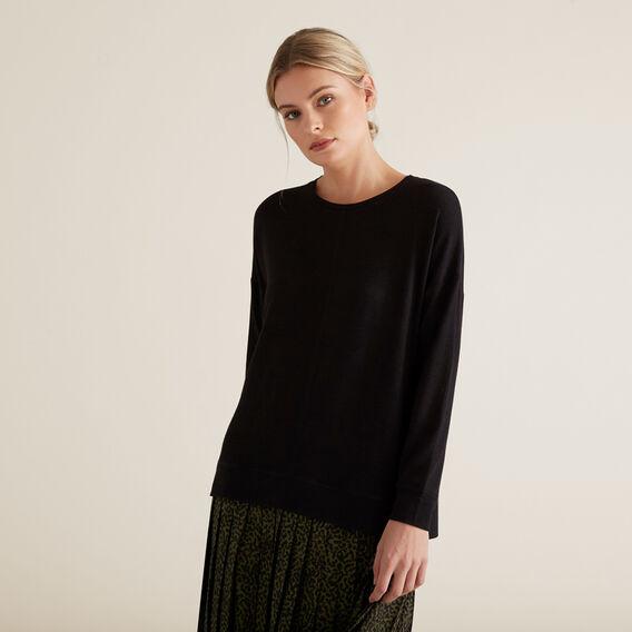 Easy Long Sleeve Top  BLACK  hi-res