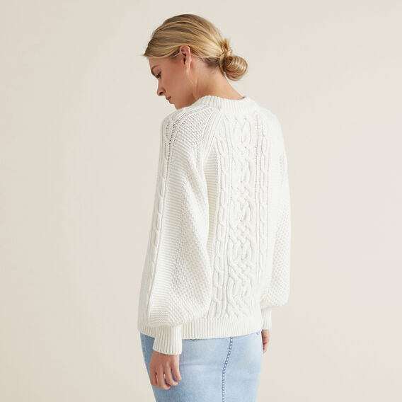 Cable Knit Sweater  FRENCH VANILLA  hi-res