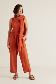 Linen Relaxed Pant  SUNBURNT ORANGE  hi-res