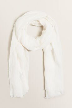 Linen Scarf  CLOUD CREAM  hi-res