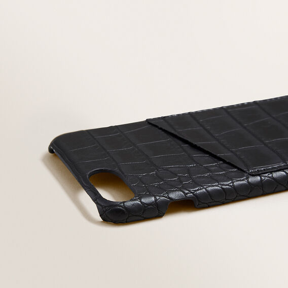 Pocket Phone Case 6/7/8  BLACK CROC  hi-res