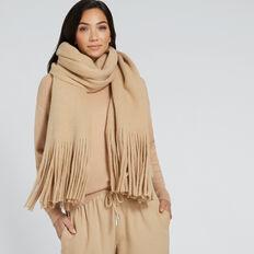 Plush Knit Scarf  SOFT BEIGE MARLE  hi-res