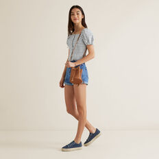 Gingham Top  MIDNIGHT  hi-res