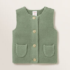 Pearl Knit Vest  FERN  hi-res