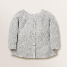 Slub Knitted Cardigan  BIRCH MARLE  hi-res