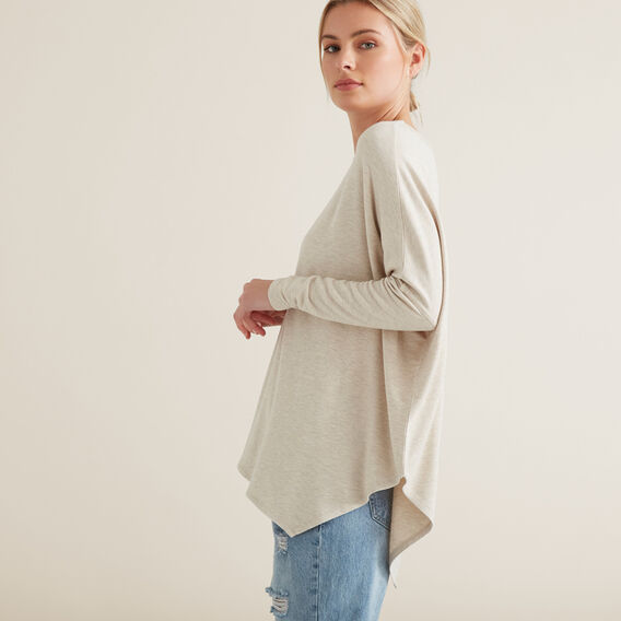 Asymmetrical Sweater  OYSTER MARLE  hi-res