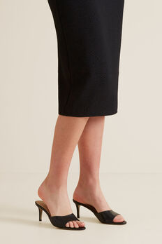 Morgan Mule Sandal  BLACK  hi-res