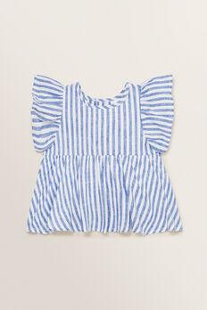 Stripe Top  WHITE/OCEAN BLUE  hi-res