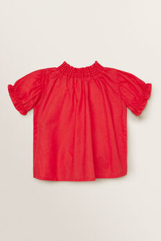 Puff Sleeve Top  APPLE RED  hi-res