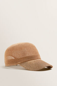 Woven Straw Cap  NATURAL  hi-res