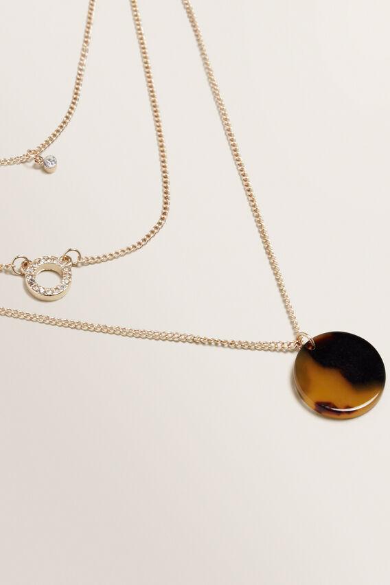 Layered Diamante Necklace  GOLD  hi-res