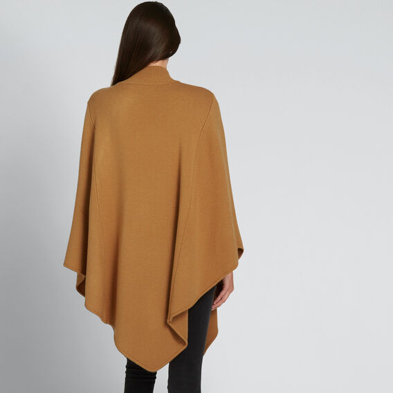 Button Detail Poncho  GINGERBREAD  hi-res