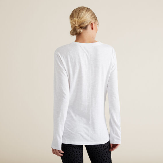 Long Sleeve Slim Basic Tee  SNOW WHITE  hi-res