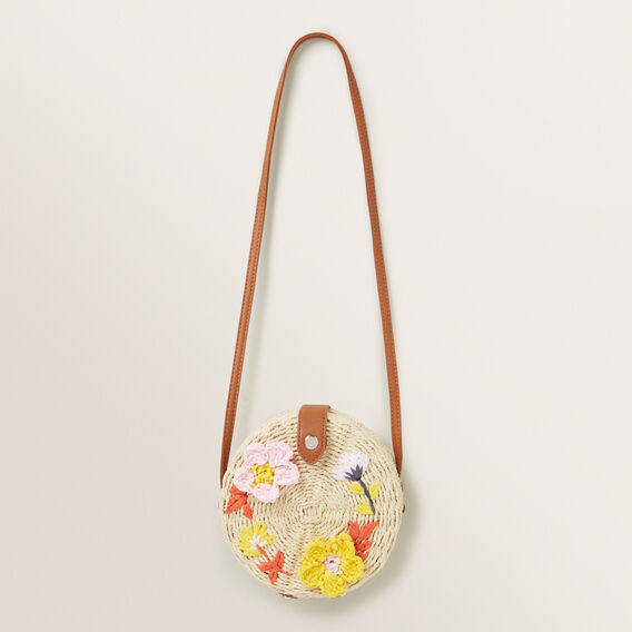 Floral Circle Bag  NATURAL  hi-res