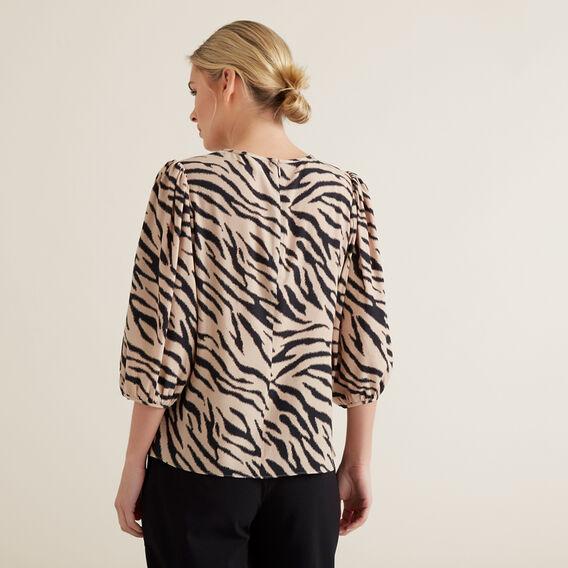 Sketchy Zebra Blouse  ZEBRA PRINT  hi-res