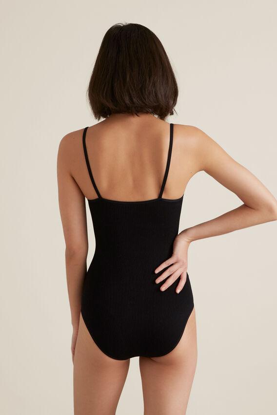 Seamfree Rib Bodysuit  BLACK  hi-res