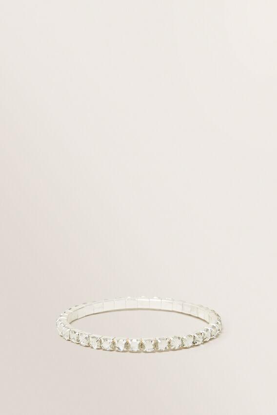 Diamante Stretch Bracelet  CLEAR  hi-res