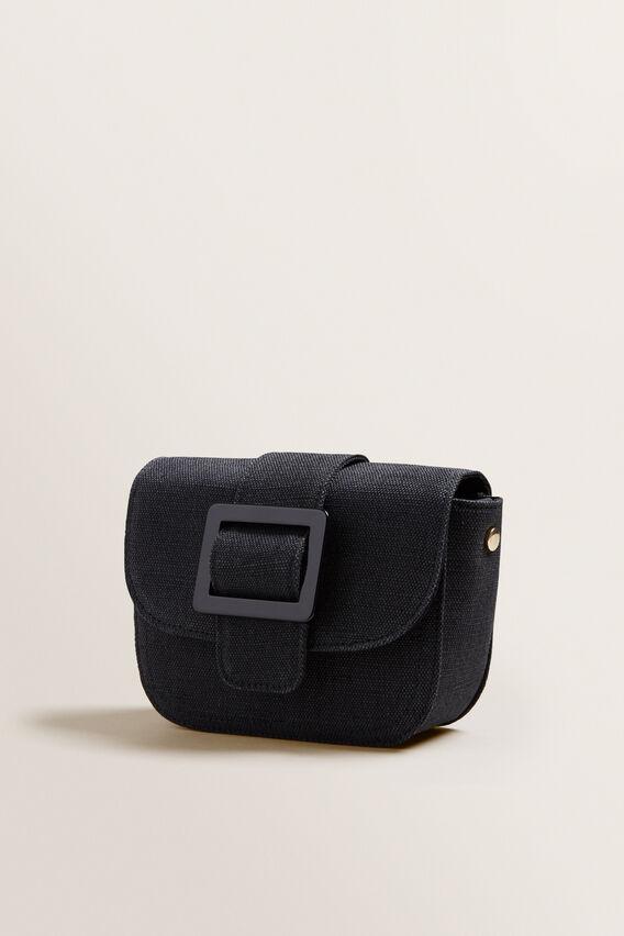 Buckle Cross Body Bag  BLACK/CANVAS  hi-res