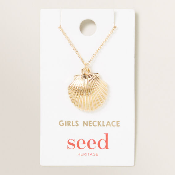 Clamshell Necklace  GOLD  hi-res