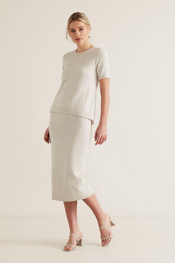 Textured Knit Shell Top  ARCTIC MARLE  hi-res