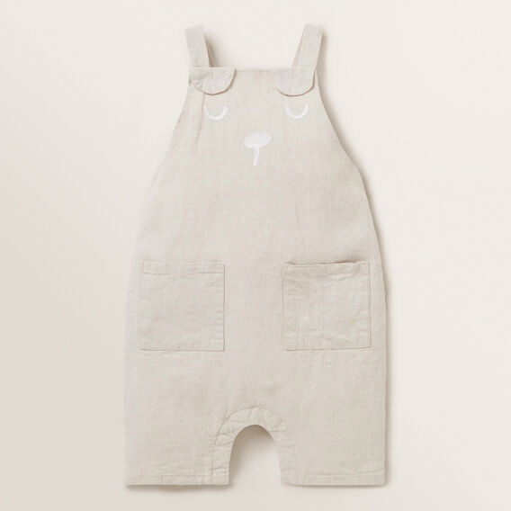 Novelty Linen Overall  NATURAL  hi-res