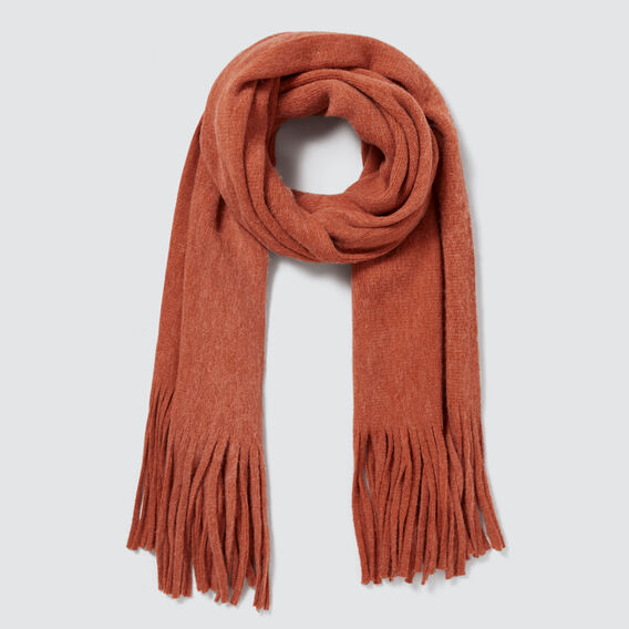 Plush Knit Scarf  BURNT TERRACOTTA  hi-res