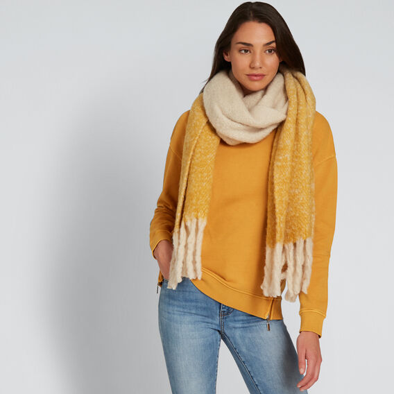 Tonal Plush Knit Scarf  GOLDEN MUSTARD  hi-res