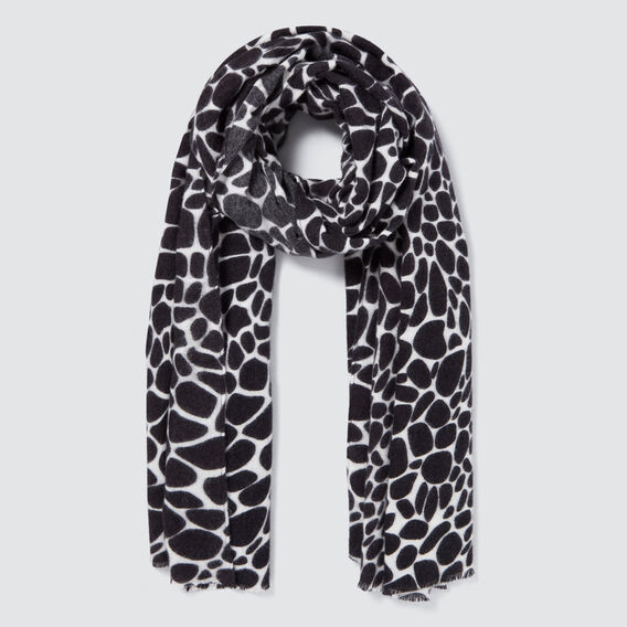 Giraffe Print Scarf  CREAM/BLACK  hi-res